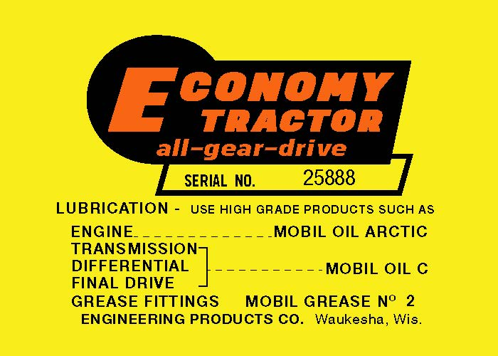 Economy Power King Serial Decal