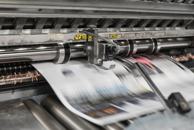Printing press - print is for marketing
