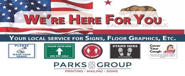 Graphics, signs & banners to encourage safe distancing.