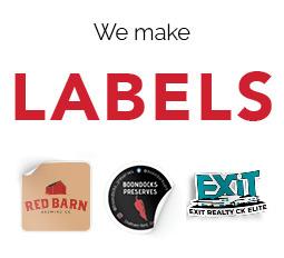 We Print Labels!
