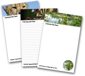Personalized Memo Pad Samples