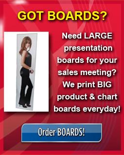 We print large presentation boards