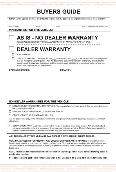 Auto Dealer Forms
