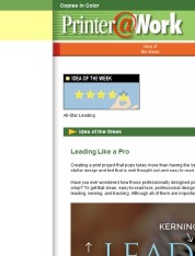 Printer@Work: 9 Resource Marketing Tips, Visualizing Sizes