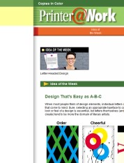Printer@Work: A Company Resumé, 12 Product Voucher Ideas