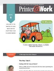Printer@Work: Now's the Time to Start Thinking Outside the Box!
