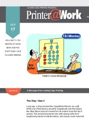 Printer@Work: Marketing with Free Samples, Facebook Tips and Tricks