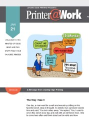 Printer@Work: The Value of Your Price; Unforgettable Reminders