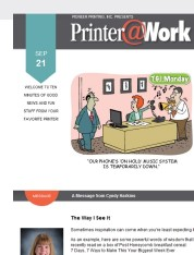 Printer@Work: How to Stand Out in a Three-Second World