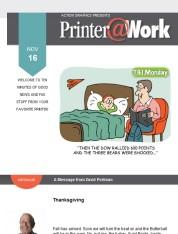Printer@Work - Thanksgiving 2020