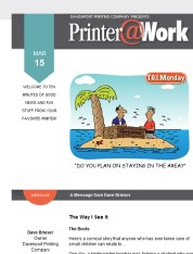 Printer@Work: 9 Creative Ways to Reach Out, Handy Outlook Calendar Tips