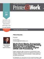 FOR IMMEDIATE RELEASE: Announcement from Multi Print Media