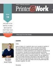 Printer@Work: update from Bailey Printing