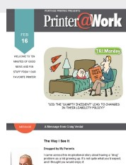 Printer@Work: Attract Birds of a Feather with Twitter Chats!