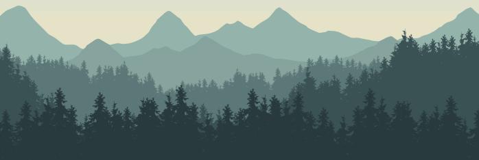 Mountain Scene DataPrint